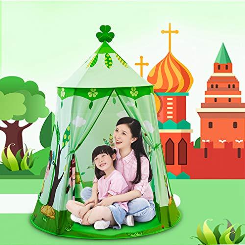 Natuurlijk patroon Kinderen Speelgoedtent Tipi Veiligheid Tipi Draagbaar Binnenspel Tenten Buitenspeelhuis voor kinderen Geschenken Speelhuisdecoratie, Groen,C