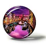 Weekino M/áscara Carneval Venecia Im/án de Nevera 3D de Cristal de la Ciudad de Viaje Recuerdo Colecci/ón de Regalo Fuerte Etiqueta Engomada refrigerador