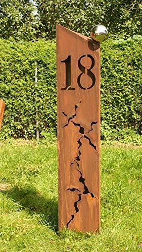 Gartendeko Rost Säulen Hausnummer 18 Säule