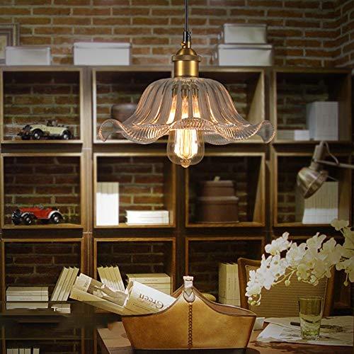 Glazen kroonluchter Crystals.Home Decoration Personality Retro Nostalgische transparant kant kroonluchters for eetkamers WELSUN (Color : AC 220V, Size : Warm White)