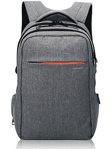 Norsens Leichter Laptop-Rucksack, 39,6 cm (15,6 Zoll), für Laptop/Notebook/Computer grau dunkelgrau 15.6 inch laptop backpack