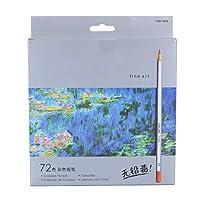 72色 色鉛筆 水彩色鉛筆 油性色鉛筆 オイルベースペンシル 大人・子供用 塗絵、マンダラ、学習用・新学期用に最適