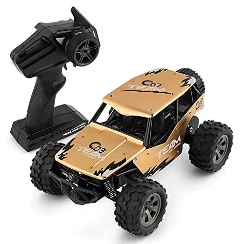 YANGENG 1:18 Aleación 2,4 GHz Coche Teledirigido RC Oruga Trepadora 4WD Sube 45 ° Bigfoot Alta Velocidad SUV Todo Terreno Coche De Carreras Coche De Juguete Chico niña