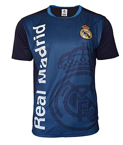 Icon Sports Group Real Madrid Offiziell lizenziertes Fußball-Trikot -01, schwarz, Medium