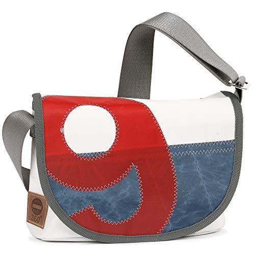 360° Perle Handtasche Damen Schultertasche Umhängetasche, weiss, Zahl ro
