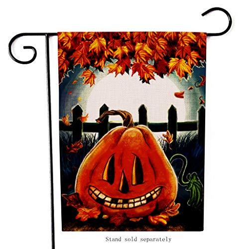 LILICAT Halloween Ölgemälde Deutscher Garten-Flagge, 32cmx47cm dekorative Gartenflagge für den Außenbereich, Rasen und Garten, Heimdekoration, doppelseitig,Outdoor Dekorative