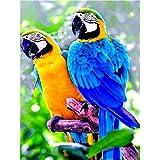 Cuadro por número loro pintado a mano regalo único pintura al óleo por números en lienzo kits de animales de pájaro decoración del hogar