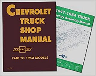 FOR RESTORERS 1947 1948 1949 1950 1951 1952 1953 1954 CHEVROLET TRUCK REPAIR SHOP & SERVICE MANUAL & FACTORY ASSEMBLY MANUAL SET. Sedan Delivery; Light Duty ½ ton Truck; ¾ ton & 1 ton Medium Duty and 1-½ ton & 2 ton Heavy Duty