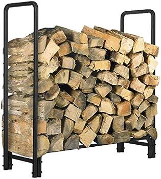 Kingso 4ft Outdoor Heavy Duty Firewood Rack