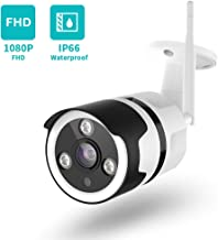 Outdoor Camera Wireless - 1080P Outdoor Security Camera with Night Vision, Motion Detection & Instant Alert, Zooms Function, IP66 Waterproof, with 2-Way Audio, Cloud Storage/SD Card Work with Alexa