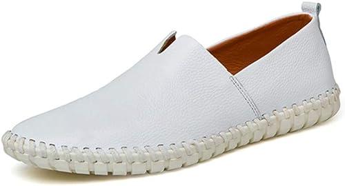 LYZGF LYZGF Hommes Jeunes Affaires Loisirs Bouche Peu Profonde Ensembles De Pieds Mode Paresseux Chaussures en Cuir  plus d'ordre