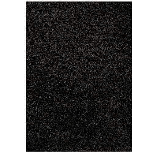 CRC 53744 Fellowes Präsentationsdeckblätter Delta (Lederstruktur), 250g/m², schwarz A3