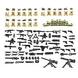 MAGMABRICK Magma Brick:Armas Puestas en la Segunda Guerra Mundial para Personalizar Lego Minifigura/Lego Moc. 88 Piezas