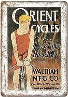 Orient Cycles Waltham MFG. Co Bicycle ティンサイン ポスター ン サイン プレート ブリキ看板 ホーム バーために