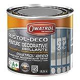 Peinture antirouille RUSTOL-DÉCO Jaune intense - 2.5 litres