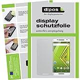 dipos I 6X Schutzfolie matt kompatibel mit Motorola Moto X Play Folie Bildschirmschutzfolie