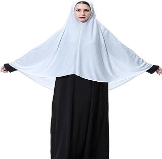 Women's Elegant Modest Muslim Islamic Ramadan Soft Lightweight Elasticity Jersey Hijab Long Scarf Black White Grey