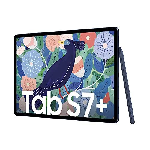Samsung Galaxy Tab S7+, Android Tablet mit Stift, WiFi, 3 Kameras, großer 10.090 mAh Akku, 12,4 Zoll Super AMOLED Display, 256 GB/8 GB RAM, Tablet in blau