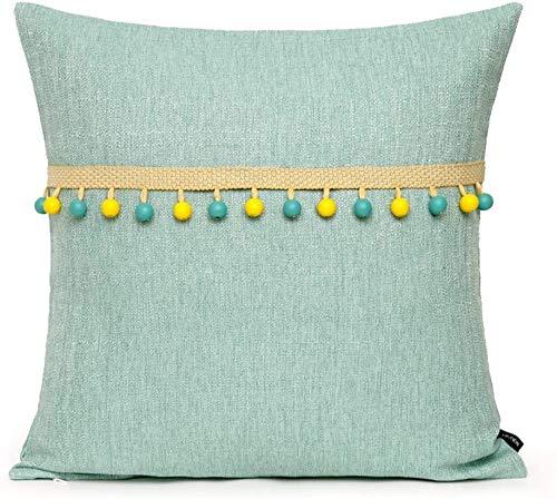 Fundas para Cojines Funda de Almohada Throw Pillow Caso Fundas De Cojines Aguamarina Suave con Granos De Madera Verde Azul De Almohada For La Sala De Estar Sofá Silla del Dormitorio QAF1128