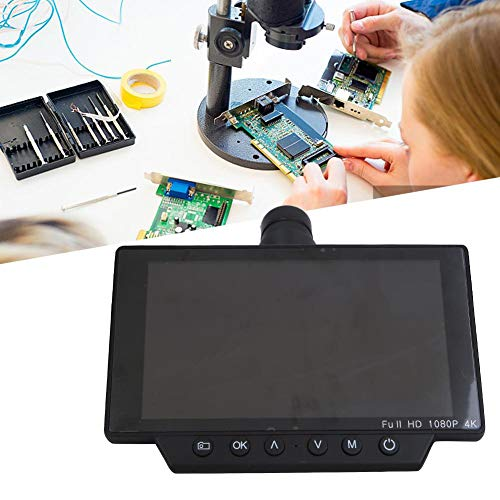 Industriemikroskop-Kamera, 1080P HDMI WIFI-Mikroskop-Kameraobjektiv, 4 k 5 in 60 fps tragbare High Definition-Digitalmikroskopkamera mit USB-Schnittstelle für industrielle Tests