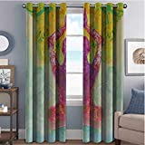 """✔ Ready made: The set includes two 54"""" wide x 96"""" long curtain panels. ✔ Good service: curtains block 85%-99% of light and UV rays. Innovative triple weaving technology reduces noise and improves TV viewing. ✔ These high-quality polyester made heat-i..."""