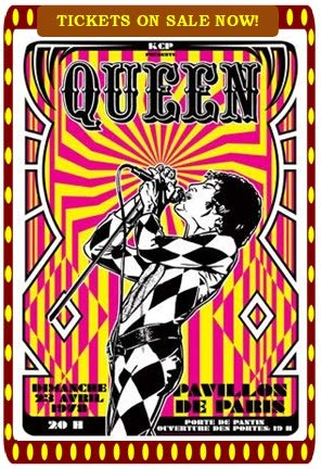 Queen Freddie Mercury 1978 3'x5' Large Fridge Magnet, High Gloss Photo Finish