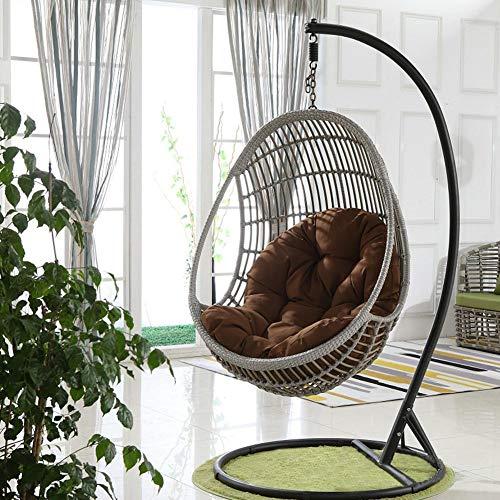 Zitkussen voor hangstoel, schommel, hangstoel met dwarsbalk, rieten bruin