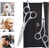 Haarschere Set,Premium Scharfe Haarschneideschere Friseurscheren,Friseurschere mit Einseitiger...