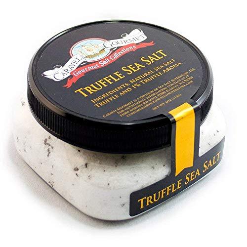 Italian Black Truffle Salt, Gluten-Free Truffle Seasoning with Zero Calories, Non-Gmo Specialty Gourmet Salt with Natural Sea Salt and Truffle Oil, 4oz Jar - Caravel Gourmet