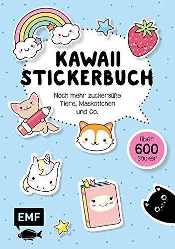 Kawaii Stickerbuch – Band 2: Noch mehr zuckersüße Tiere, Maskottchen und Co.