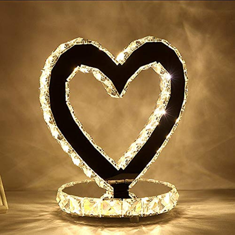 ZHAOHUIFANG Tischlampe LED Kristall Dekorative Tischlampe Schlafzimmer Nachttisch Wohnzimmer Edelstahl Lampen Moderne Lampe, 2