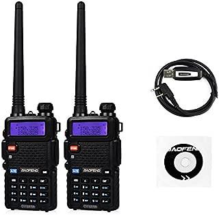 Baofeng UV-5RTP Tri-Power 8/4/1W Two-Way Radio Transceiver (2pcs)+ Programming Cable (1pcs)