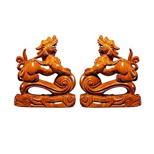 Accesorios Para El Hogar Obras De Arte Esculturas Decoración De Pi Xiu Mejor Regalo De Felicitación De Inauguración De La Casa Conjunto De Feng Shui Estatuilla De Pi Xiu Atrae Riqueza Y Buena Suerte
