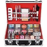 Love Urban Beauty - Juego de caja de maquillaje de manicura francesa Divine Beauty de 76 piezas - Sombras de ojos, resaltador, lápiz labial, brochas para rubor, etc.