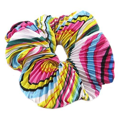 Les Trésors De Lily [Q0097] - Chouchou créateur 'Sissi' multicolore (satiné) - largeur 4 cm