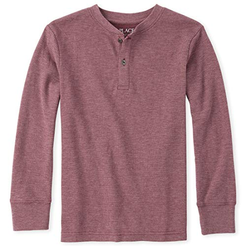 The Children's Place Jungen 2 Tone Thermal Long Sleeve Shirt Hemd, Redwood, XX-Large