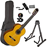 Yamaha CG-TA TransAcoustic Nylon String Acoustic-Electric Classical Guitar Natural Bundle with Guitar Bag, Guitar Stand, and Accessories