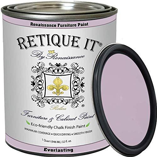 Retique It Chalk Furniture Paint by Renaissance, 32 oz (Quart), 31 Everlasting, 32 Ounces