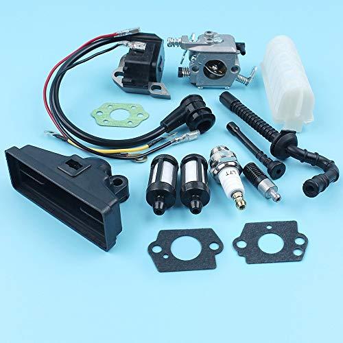 HaoYueDa Filtro de línea bobina de encendido Carburador Fuel Oil Aire Compatible con Stihl MS250 MS230 MS210 021 023 025 motosierra pieza de recambio de Zama C1q-S11E