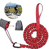 Corda da traino per bicicletta, 3 m, per bambini, con gancio di sicurezza, adatta per bambini o adulti