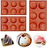 6 Holes Silicone Mold For Chocolate, Cake, Jelly, Pudding, Handmade Soap, BPA Free Cupcake Baking Pan (3)