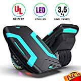 Gyroor Hoverboard Hovershoes-Gyroshoes S300 Electric Roller Skate Hoverboard with LED Lights,UL2272 Certificated Self Balancing Hovershoes for Kids and Adults(Blue)