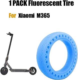FreeLeben Neumático Fluorescente Scooter Eléctrico, 1 PC Caucho Resistente al Desgaste Antideslizante Llanta de Repuesto de Nido de Abeja Sólido para el Scooter Eléctrico Xiaomi M365