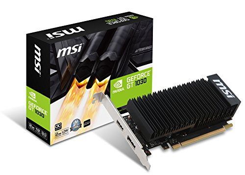 MSI GeForce GT 1030 2GH LP OC 2GB Nvidia GDDR5 1x HDMI, 1x DP, 2 Slot Low Proflie, Afterburner OC, Heat sink Grafikkarte
