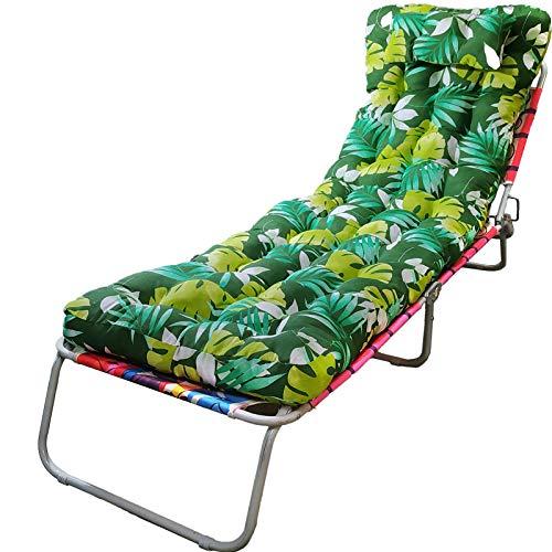 OCEANO AGD Cojín de sillón reclinable Adecuado para Interior y Exterior, cojín, balcón, Playa. (150 x 50 cm, Verde Oscuro)