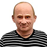 La máscara del presidente ruso Vladimir Putin - Perfecto para el Carnaval y Halloween - Disfraz de adulto - Látex, unisex Talla única