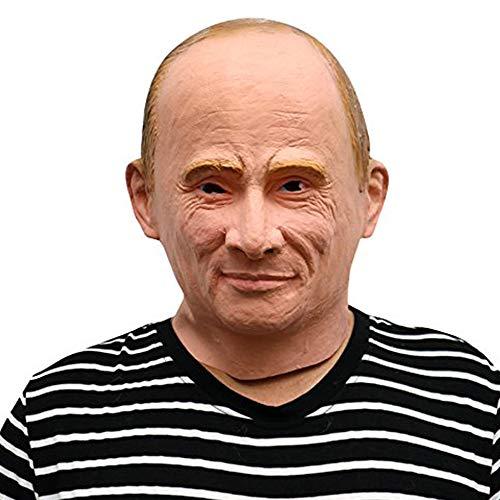 Russicher Präsident Vladimir Putin Maske - perfekt für Fasching, Karneval & Halloween - Kostüm für Erwachsene - Latex, Unisex Einheitsgröße