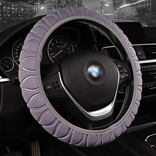 Funda Volante Coche ZWRY Cubiertas de dirección Trenza en la Cubierta del Volante Auto Universal Interior Accesorios Gris