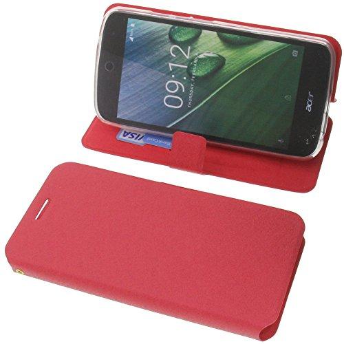 foto-kontor Tasche für Acer Liquid Zest Plus Book Style rot Schutz Hülle Buch