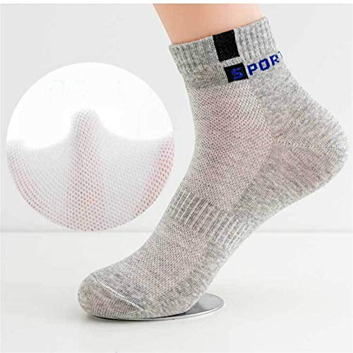 Trihedral-X 5 Pares de los Hombres de algodón Calcetines de algodón Calcetines Transpirables Resorte Calcetines Casuales Calcetines Delgados Conjunto Verano Deporte Tobillo Calcetines Paquete